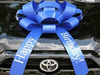 Big Happy Birthday Car Bow - Minor Imperfections, HUGE gift bow magnetic back