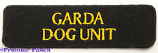 Garda Dog Unit Patch Embroidered Badge Crest Gardai Irish Police Ireland Rare
