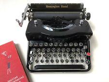 Vintage Remington Rand Model 1 Portable Typewriter w/ case - 1930s