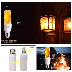 LED Flame Bulb lot 2) led Flame 🔥 Effect Light Bulb 7W E26 Base Antique Flame