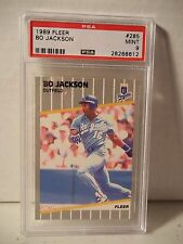1989 Fleer Bo Jackson PSA Mint 9 Baseball Card #285 MLB Collectible
