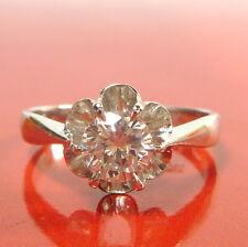 Toller Gold Ring 55 (17,5 mm Ø) 585/14k Weißgold Diamant 0,75ct Solitaire