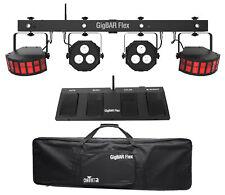 Chauvet DJ GigBAR Flex Lighting System w/ 2) Derby+2) Par Can Lights+Footswitch