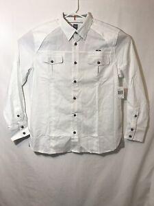 NWT cavi mens long sleeve button down what size 2XL 53% linen 47% cotton