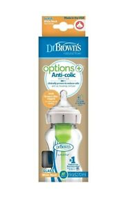 Dr Browns OPTIONS+ Wide Neck Glass Feeding Bottle 270ml