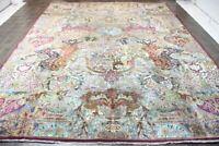Traditional Retro Wool Oriental Lounge Rug Handmade Carpet Rugs 300 X 383 CM