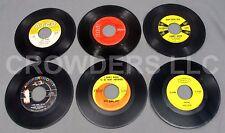 "6 7"" 45 rpm Vinyls Jimmy Dean King Cole Bobby Vinton George Hamilton IV Jim Ed"