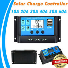 Solar Charger Controller 12V 24V Battery Charger LCD USB Solar Panel Regulator