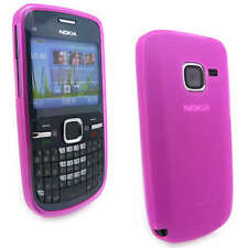 NEW Pink Jelly Case Cover Gel Skin for Nokia C3-00 C3