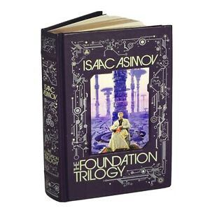 ❤️THE FOUNDATION TRILOGY by Isaac Asimov Sealed Leather Bound Gift New