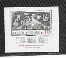 Checoslovaquia Pintura El Guernica Picasso Hojita año 1981 (FB-757)