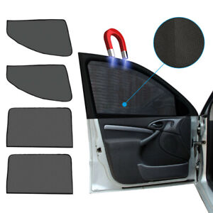 4× Magnetic Car Front Rear Side Window Sun Shade Cover Mesh Shield UV Protection