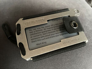 Trayvax Axis Wallet  In Raw Stainless Steel