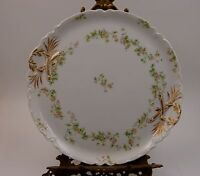 VERY COLORFUL LIMOGES HAVILAND ANTIQUE OYSTER PLATE//DISH Floral  Style RARE  Q