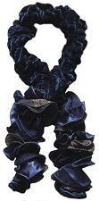 echarpe fantaisie femme pompons bleu