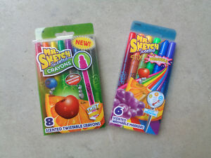 Mr. Sketch 8 Scented Twistable Crayons & 6 Washable Markers Craft Coloring Color