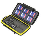 WATERPROOF WATER-RESISTANT CASE HOLDER STORAGE apt to: 12 SD MEMORY CARDS