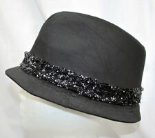 Authentic bebe Black Sequin Fedora Hat New With Tags