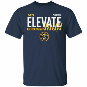 Men's Denver Nuggets 2021 Basketball Playoffs Bound Dunk Navy T-Shirt Gift Fan