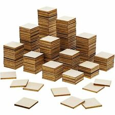 200-Pack Unfinished Wood Cutout Pieces for Home Decoration, DIY Supplies, 1x1
