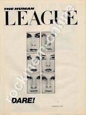 Human League Dare 'The Face' LP advert