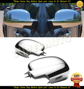 For 2007-2013 Chevrolet/GMC Trucks Suvs 2pcs Chrome Full Mirror Cover NON-TOW
