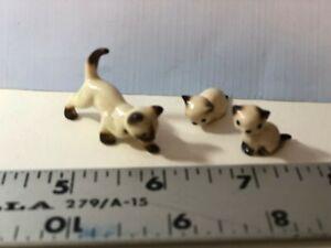 Vintage 2 Tiny Miniature Cat Figurines