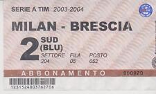 Sammler Used Ticket / Entrada AC Milan v Brescia 15-05-2004