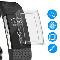 Ultrathin Soft TPU Full Protective Clear Case Cover For Fitbit Charge 2 Bracelet