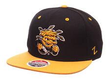 Wichita State Shockers Zephyr Z11 Snapback Cap Hat Black Yellow