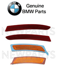 For BMW F10 5-Series Set of Front & Rear Reflector Bumper Covers Genuine Kit