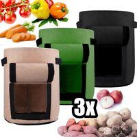 3pc 7 Gallonen Kartoffel Pflanztasche Gemüse Pflanzsack Pflanze Wachsende Tasche