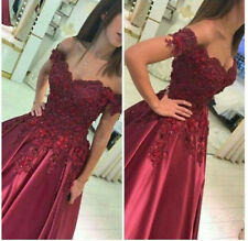 2018 Applique Off Shoulder Evening Party Dress Wedding Ball Gowns Prom Dresses