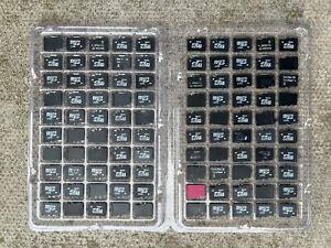 Job lot of 100 micro SD memory cards, mixed capacity
