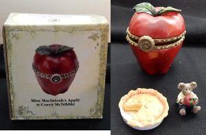 Boyds Treasure Box Miss MacIntoshs Apple w/ Corey McNibble  MIB 392152 Mouse