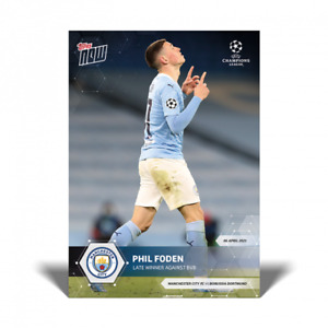 2020-21 Topps Now #58 Phil Foden UEFA Champions UCL Winner City PRESALE