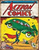 Action Comics Superman No.1 Cover Vintage Retro Tin Metal Sign 13 x 16in