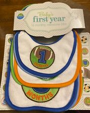 Neat Solutions Baby's First Year 12 Monthly Milestone Bibs, Baby Shower