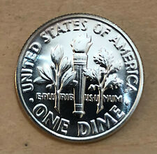 fresh gem proof 1964 Roosevelt silver dime  DOUBLED DIE REVERSE