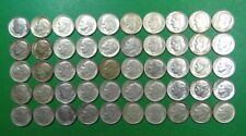 Roll Of (50) Circulated 90% Silver 1964 Roosevelt Dimes