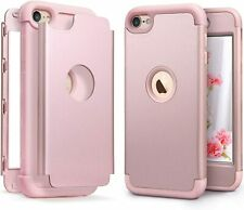 For iPod Touch 5th 6th & 7th Gen - Hard Hybrid Armor Impact Case Cover ROSE GOLD