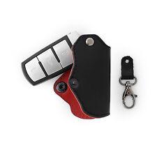Volkswagen Genuine Leather Key Holder Case Cover Passat B6 B7 CC Magotan Black