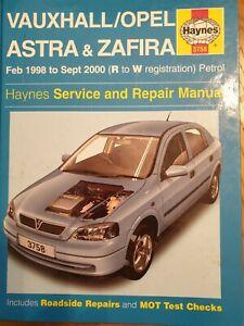 Vauxhall ZAFIRA riparazione manuale Haynes Officina Servizio Manuale 1998-2004 3797