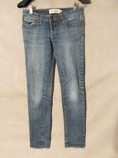 D9839 Abercrombie Slim Stretch Killer Fade Jeans Girls' Measured 27x27