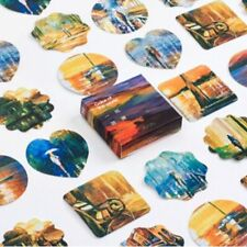 45 PCs/lot Scenery Scrapbooking Label Color Of The World Paper Stickers