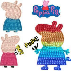 UK Peppa Pig Pop Push it Bubble Fidget Sensory Toys ADHD Stress Relief Kids Toys