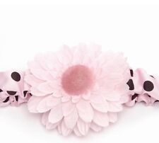 NEW MUD PIE INFANT PERFECT PRINCESS BLACK & PINK POLKA DOT HEADBAND