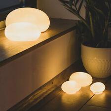Deko Leuchte Porzellanleuchte  Kieselsteinleuchte groß - Räder Design Living