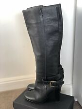 Black Leather Witchery Knee High Boots Size 38