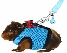 Rypet Guinea Pig Harness and Leash - Soft Mesh Small Pet Harness with Safe Bell,